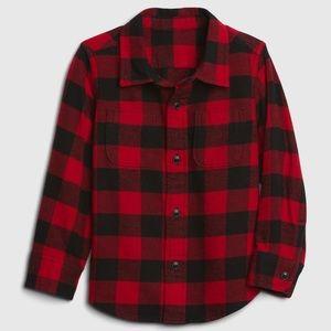 NWT Gap Boys plaid button down shirt